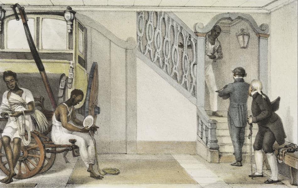 Voyage Pittoresque et Historique au Bresil Vol. 3 - Le dessous de la porte cocher d'un personnage de la cour (1839)