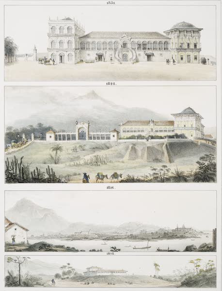 Ameliorations Progressives du Palais de St Christophe, (Quinta de Boa Vista); depuis 1808, jusqu'en 1831