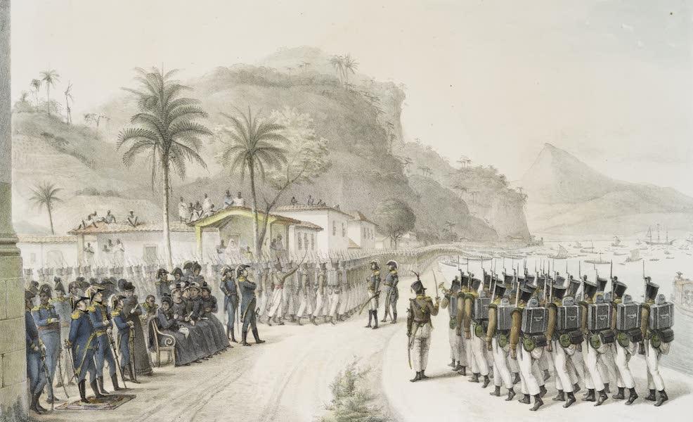 Voyage Pittoresque et Historique au Bresil Vol. 3 - Embarquement des Troupes a Prahia Grande pour l'Expedition contre Monte-Video (1839)