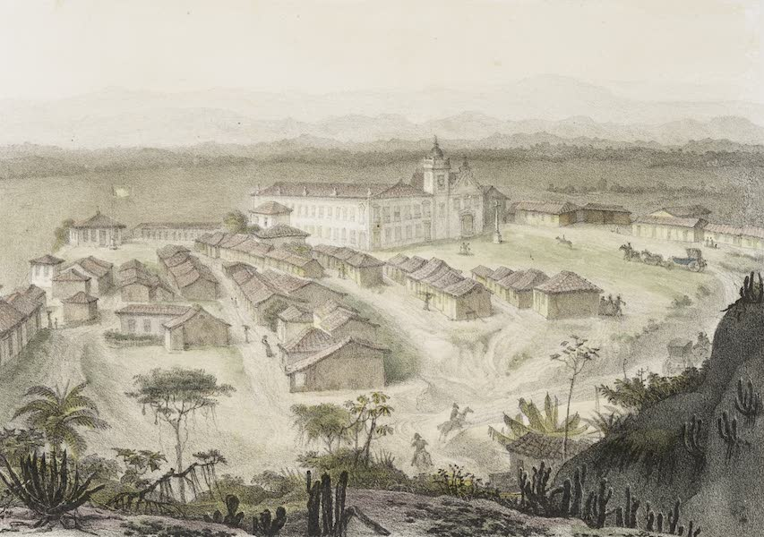 Voyage Pittoresque et Historique au Bresil Vol. 3 - Vue du Chateau Imperial de St. Crux (1839)