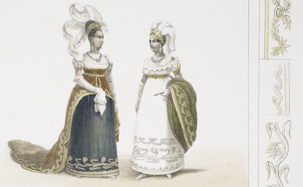 Voyage Pittoresque et Historique au Bresil Vol. 3 - Costume des Dames du Palais (1839)