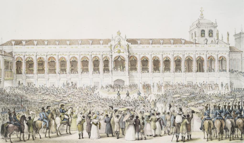 Voyage Pittoresque et Historique au Bresil Vol. 3 - Vue de l'exterieur de la Galerie de l'acclamation du Roi Dom Jean vi a Rio de Janeiro (1839)
