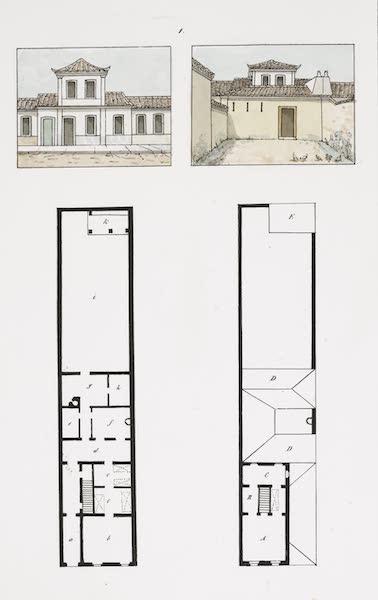Voyage Pittoresque et Historique au Bresil Vol. 3 - Plans et elevations de deux petites maisons [I] (1839)