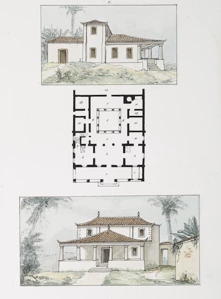 Voyage Pittoresque et Historique au Bresil Vol. 3 - Plans et elevations de deux petites maisons [II] (1839)