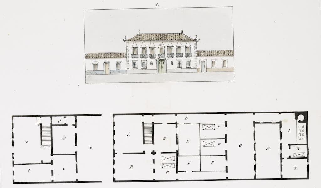 Voyage Pittoresque et Historique au Bresil Vol. 3 - Plans et elevations de deux grandes maisons [I] (1839)