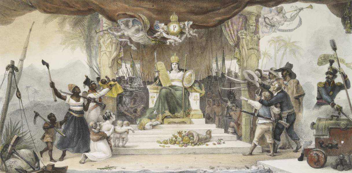Rideau d'avant scene execute au Theatre de la Cour, pour la representation d'apparat
