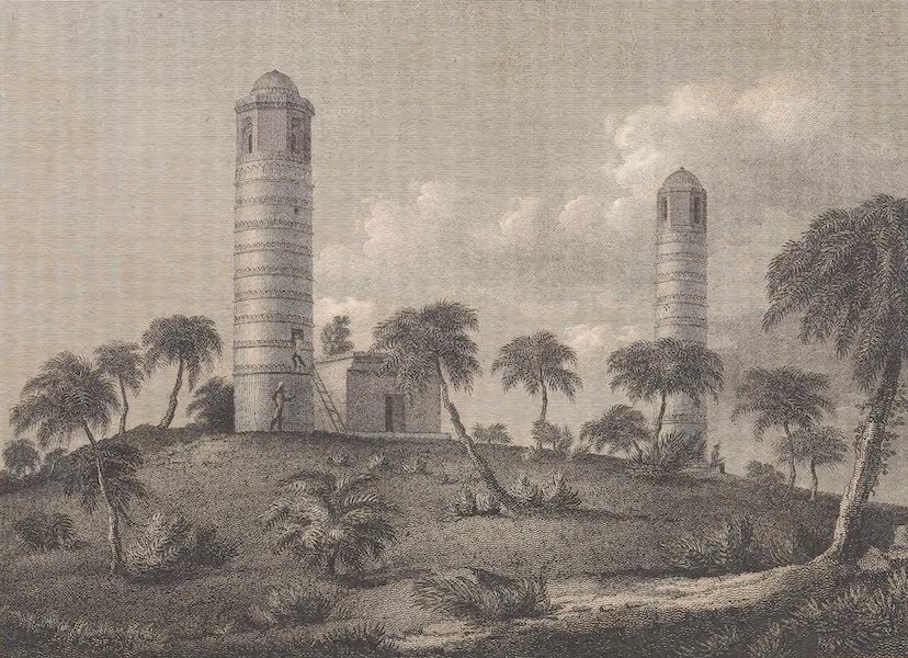 Voyages and Travels to India, Ceylon, the Red Sea, Abyssinia, and Egypt Vol. 1 - Ancient Towers at Bhaugulpore (1809)
