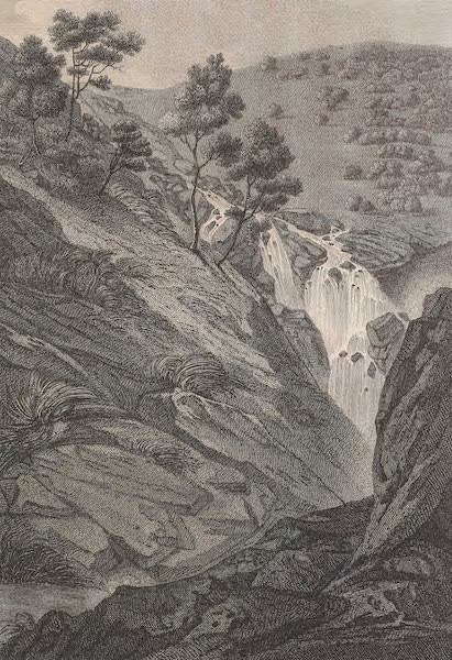Voyages and Travels to India, Ceylon, the Red Sea, Abyssinia, and Egypt Vol. 1 - Waterfall at Sevasummoodra (1809)