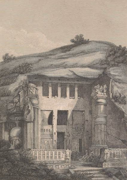Voyages and Travels to India, Ceylon, the Red Sea, Abyssinia, and Egypt Vol. 2 - Front View of the Cave of Kenneri (1809)