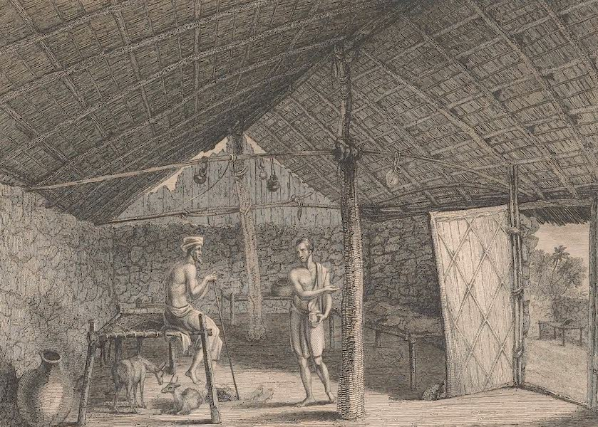 Voyages and Travels to India, Ceylon, the Red Sea, Abyssinia, and Egypt Vol. 2 - Interior of a House at Dhalac (1809)