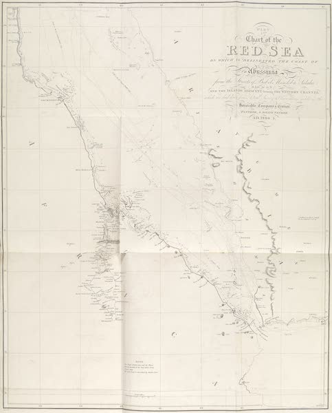 Voyages and Travels to India, Ceylon, the Red Sea, Abyssinia, and Egypt Vol. 2 - Chart of the Red Sea (1809)