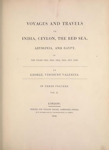 Voyages and Travels to India, Ceylon, the Red Sea, Abyssinia, and Egypt Vol. 2 (1809)