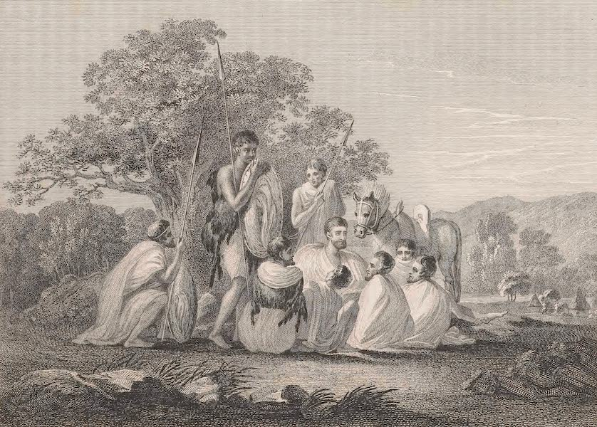 Voyages and Travels to India, Ceylon, the Red Sea, Abyssinia, and Egypt Vol. 3 - Abyssinians Resting on a March (1809)