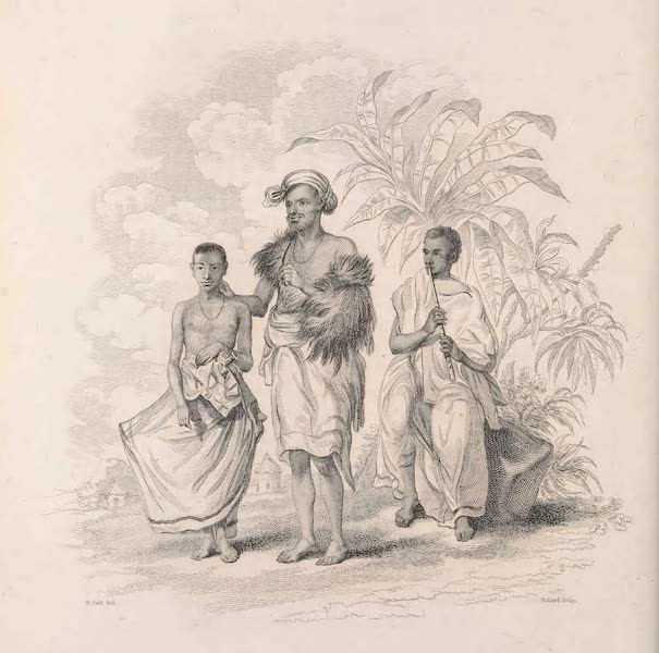 Voyages and Travels to India, Ceylon, the Red Sea, Abyssinia, and Egypt Vol. 3 - Abyssinian Young Priest, Woodcutter, Galla Playing on the Pipe (1809)