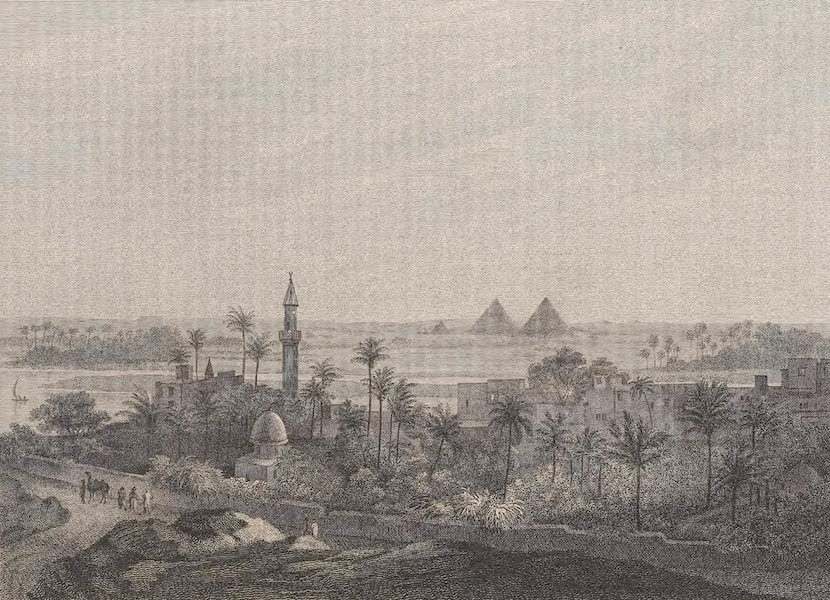 Voyages and Travels to India, Ceylon, the Red Sea, Abyssinia, and Egypt Vol. 3 - The Pyramids from Old Cairo (1809)