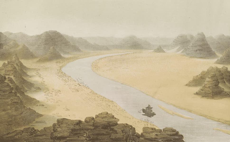 Voyages au Soudan Oriental et Dans l'Afrique Septentrionale - Planche 2. Les bords du Nil en Nubie. (1852)