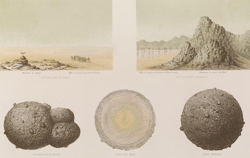 Voyages au Soudan Oriental et Dans l'Afrique Septentrionale - Planche 4. Vue et détails du grand désert de Korosko. (1852)
