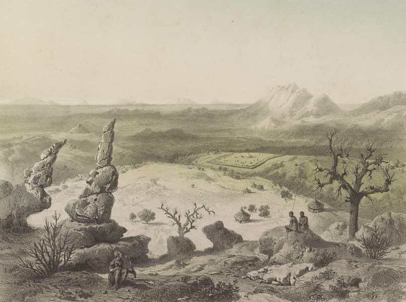 Voyages au Soudan Oriental et Dans l'Afrique Septentrionale - Planche 18. Vue prise sur les hauteurs de Bénichangorou. (1852)