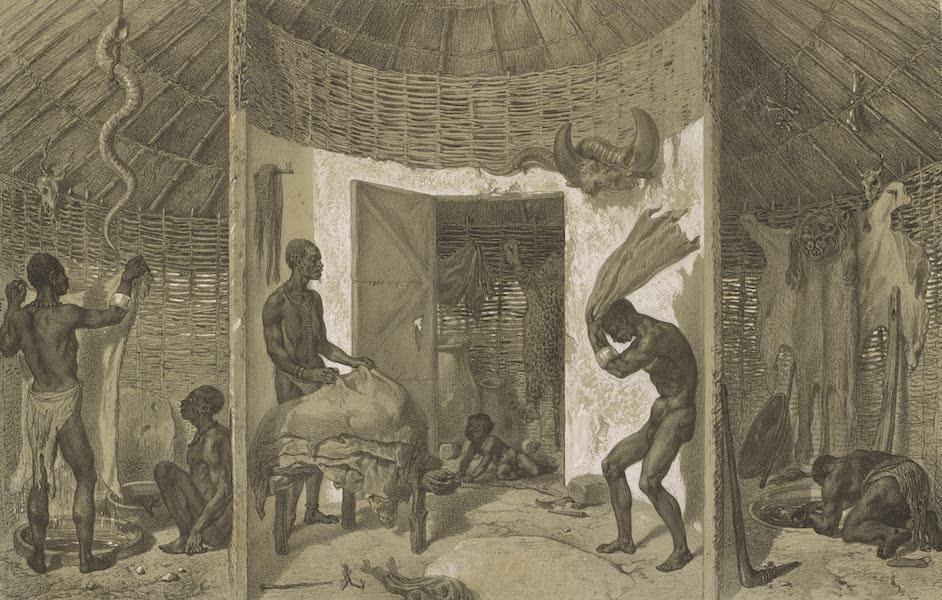 Voyages au Soudan Oriental et Dans l'Afrique Septentrionale - Planche 19. Vue intérieure d'une tannerie. (1852)