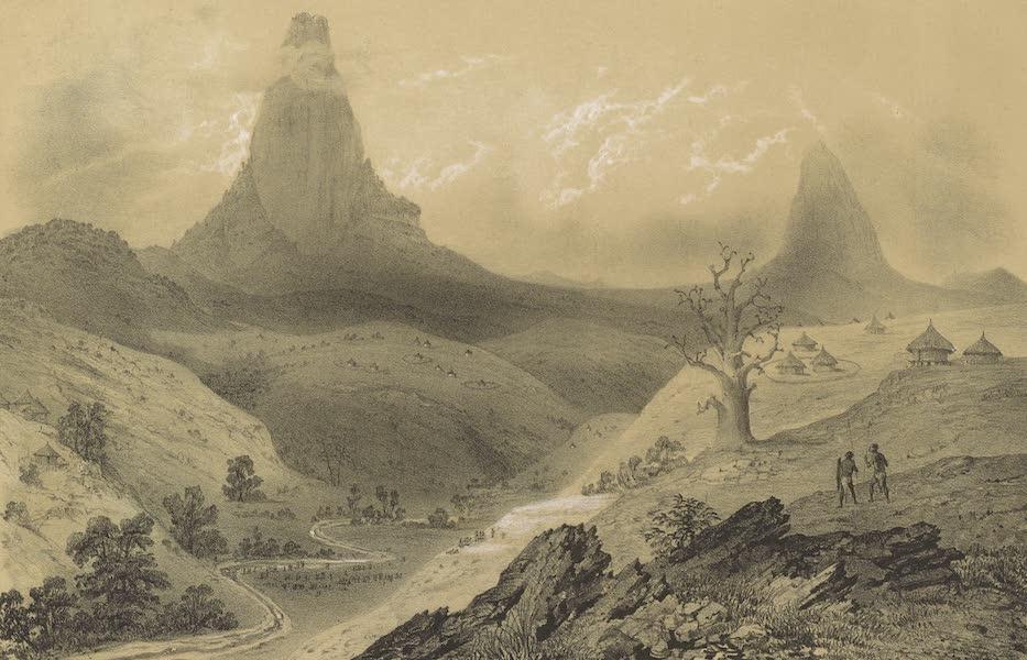 Voyages au Soudan Oriental et Dans l'Afrique Septentrionale - Planche 21. Vue des pics de Fa-Dok et de Ba-Dok. (1852)