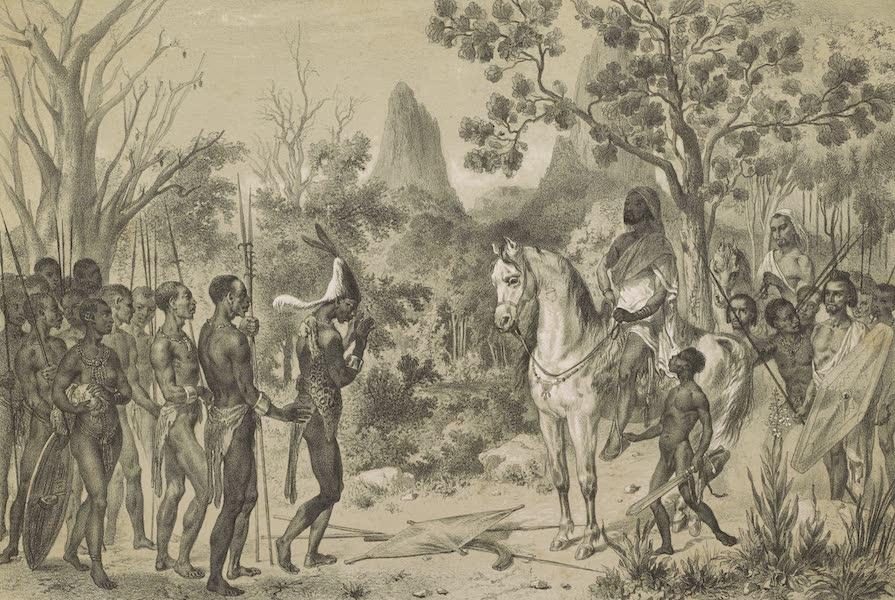 Voyages au Soudan Oriental et Dans l'Afrique Septentrionale - Planche 22. Préliminaire cérémonieux d'une entrevue. (1852)