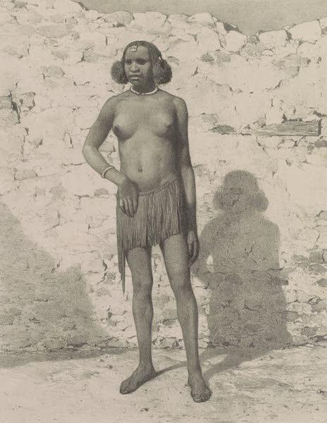 Voyages au Soudan Oriental et Dans l'Afrique Septentrionale - Planche 23. Femme de race croisée du Fa-Zoglo. (1852)