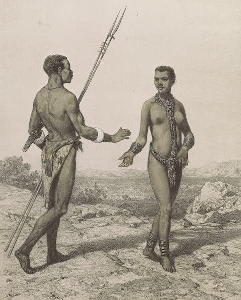 Voyages au Soudan Oriental et Dans l'Afrique Septentrionale - Planche 25. Nègre et négresse du Homotché. (1852)