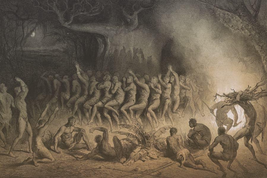Voyages au Soudan Oriental et Dans l'Afrique Septentrionale - Planche 30. Danse religieuse des Nègres. (1852)