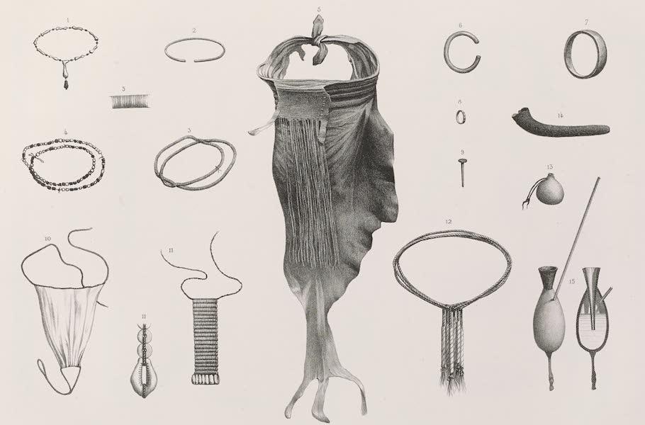 Voyages au Soudan Oriental et Dans l'Afrique Septentrionale - Planche 32. Vêtements et objets de parure des Nègres. (1852)