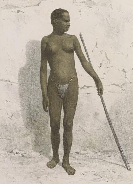 Voyages au Soudan Oriental et Dans l'Afrique Septentrionale - Planche 35. Jeune fille du Tékélé. (1852)