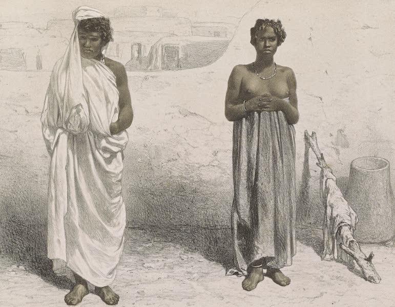 Voyages au Soudan Oriental et Dans l'Afrique Septentrionale - Planche 37. Esclaves Ghelouk et Dinka. (1852)