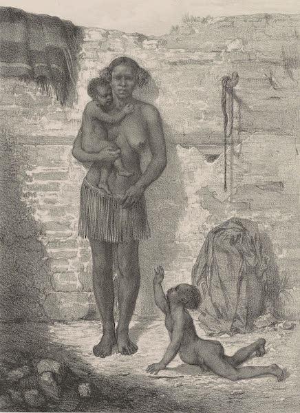 Voyages au Soudan Oriental et Dans l'Afrique Septentrionale - Planche 39. Femme du Sennaar. (1852)