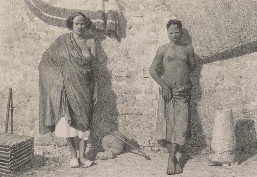 Voyages au Soudan Oriental et Dans l'Afrique Septentrionale - Planche 40. Femmes du Sennaar et du Darfour. (1852)