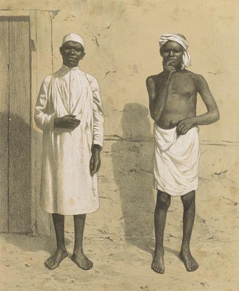 Voyages au Soudan Oriental et Dans l'Afrique Septentrionale - Planche 42. Hommes du Sennaar. (1852)