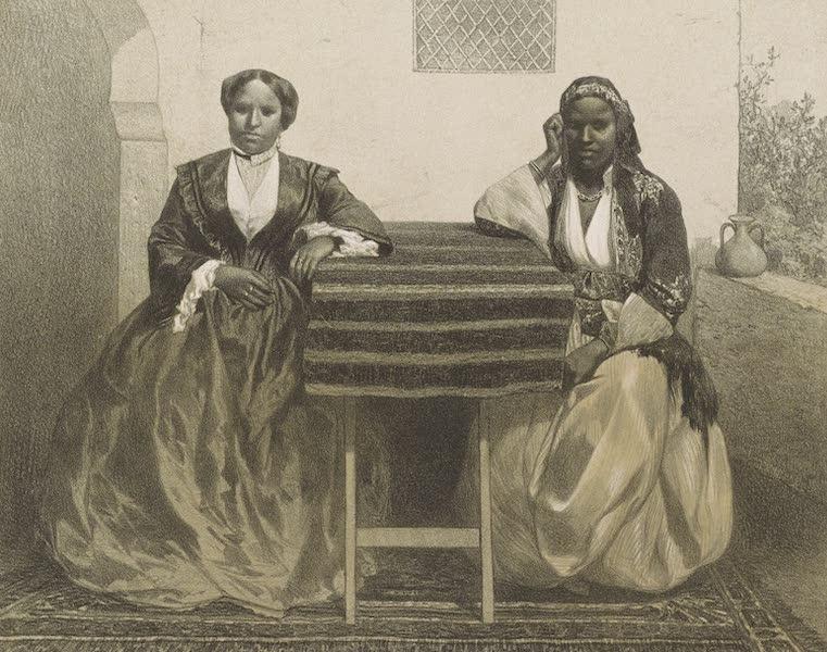 Voyages au Soudan Oriental et Dans l'Afrique Septentrionale - Planche 43. Femme Galla et sa fille née d'un blanc. (1852)