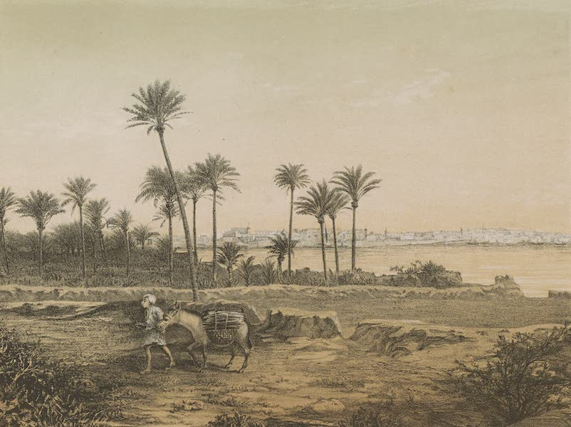 Voyages au Soudan Oriental et Dans l'Afrique Septentrionale - Planche 55. Vue de Tripoli de Barbarie. (1852)