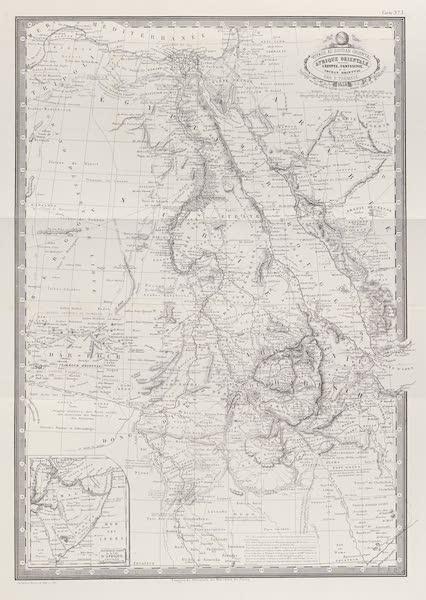 Voyages au Soudan Oriental et Dans l'Afrique Septentrionale - Carte no. 3. Carte de l'Afrique orientale. (1852)