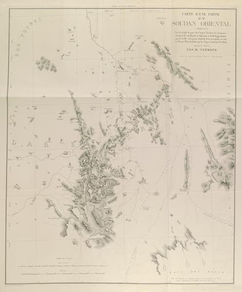 Voyages au Soudan Oriental et Dans l'Afrique Septentrionale - Carte no. 4. Carte d'une partie du Soudan oriental. (1852)
