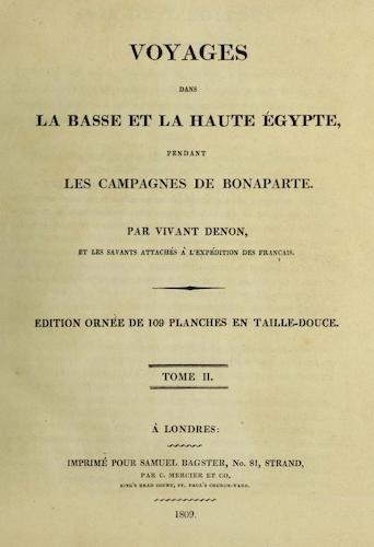 French - Voyages dans la Basse et la Haute Egypte Vol. 2