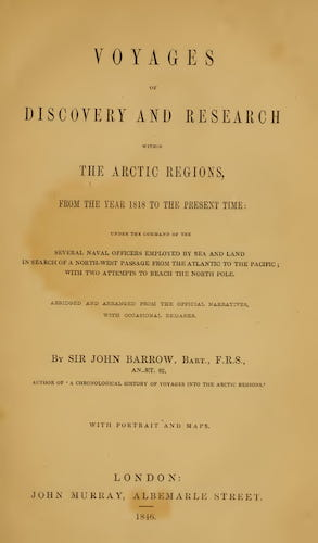 Voyages of Discovery and Research Within the Arctic Regions (1846)