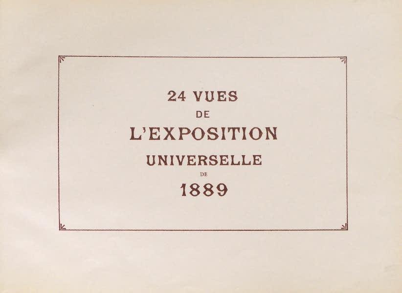 Vues de l'Exposition Universelle - Title Page (1889)