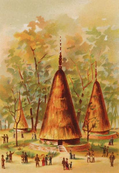 Vues de l'Exposition Universelle - Nouvelle Caledonie Cases Canaques (1889)