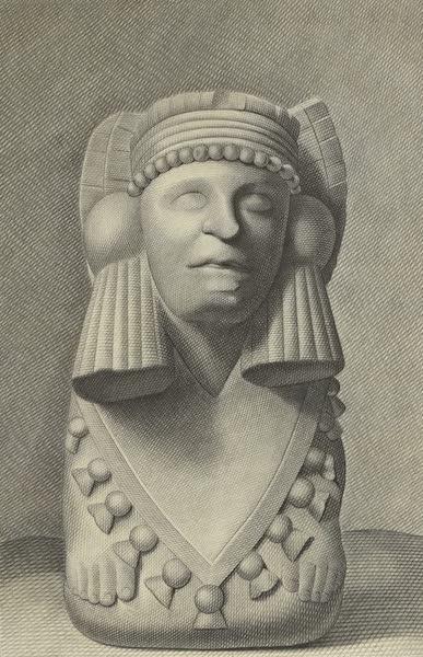 Vues des Cordilleres et Monumens de l'Amerique - Buste d'une pretress azteque [I] (1813)