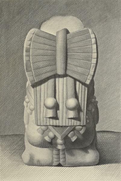 Vues des Cordilleres et Monumens de l'Amerique - Buste d'une pretress azteque [II] (1813)