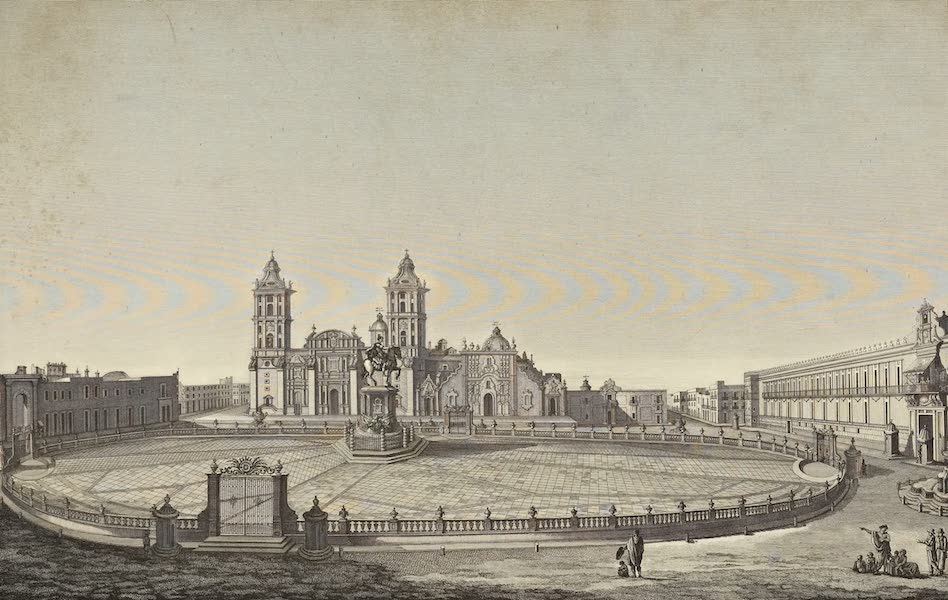 Vues des Cordilleres et Monumens de l'Amerique - Vues de la grande place de Mexico (1813)