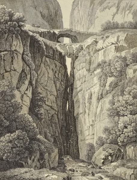 Vues des Cordilleres et Monumens de l'Amerique - Ponts naturels d'Icononozo (1813)