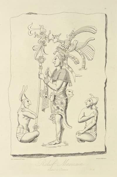 Vues des Cordilleres et Monumens de l'Amerique - Relief mexicain trouve a Oaxaca (1813)