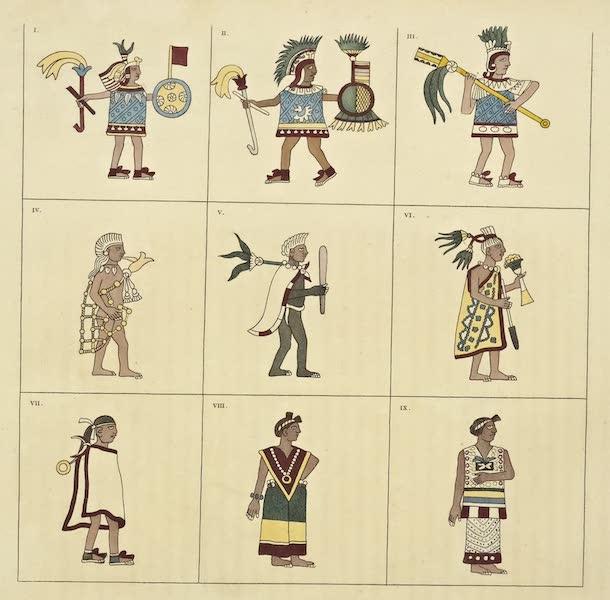 Vues des Cordilleres et Monumens de l'Amerique - Costumes dessines par des peintres mexicains du temps de Montezuma (1813)