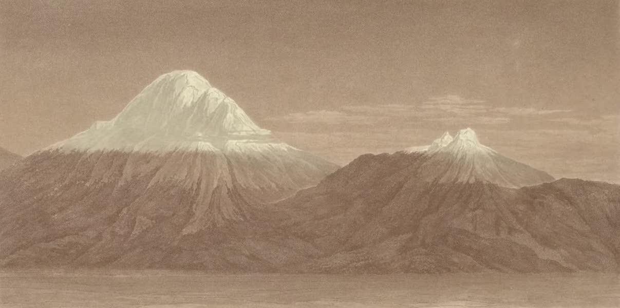 Vues des Cordilleres et Monumens de l'Amerique - Vue du Chimborazo et du Carguairazo (1813)