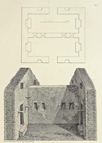 Vues des Cordilleres et Monumens de l'Amerique - Interieur de la maison de l'Inca, au Canar (1813)